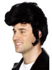 1950's Rockstar Teddy Wig In Black